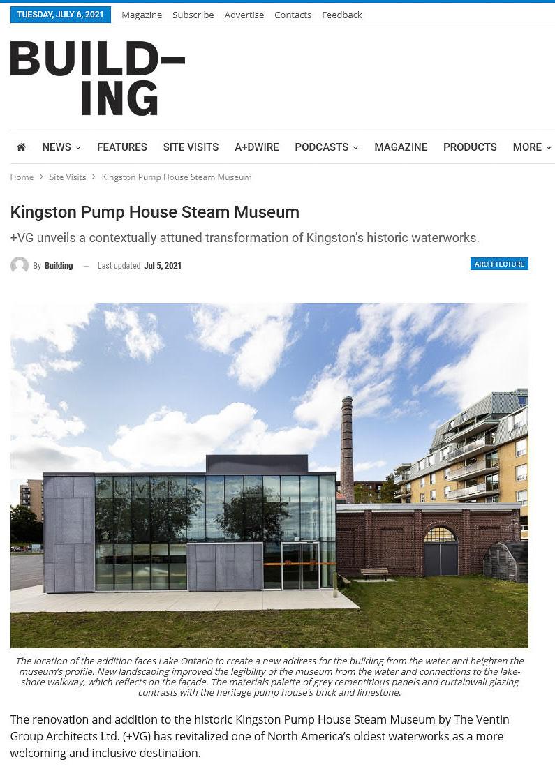 building magazine press hit kingston pumphouse steam museum